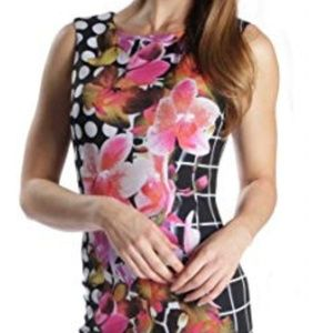 Joseph Ribkoff Black & White with Pink Floral